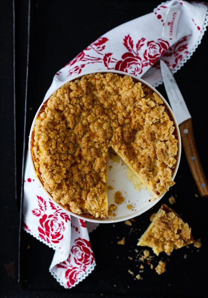 Käsekuchen mit Zitronenstreuseln