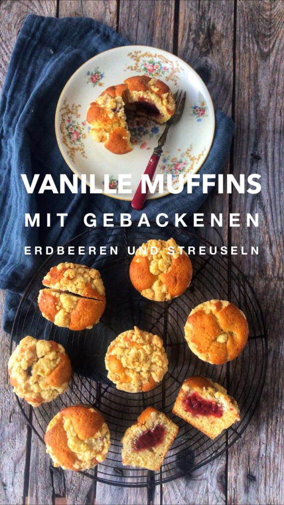 Vanillemuffins von oben