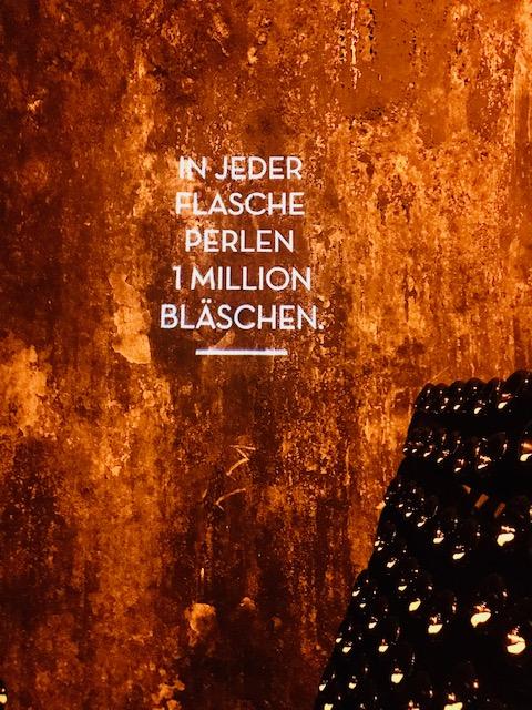 In jeder Flasche perlen 1 Million Bläschen