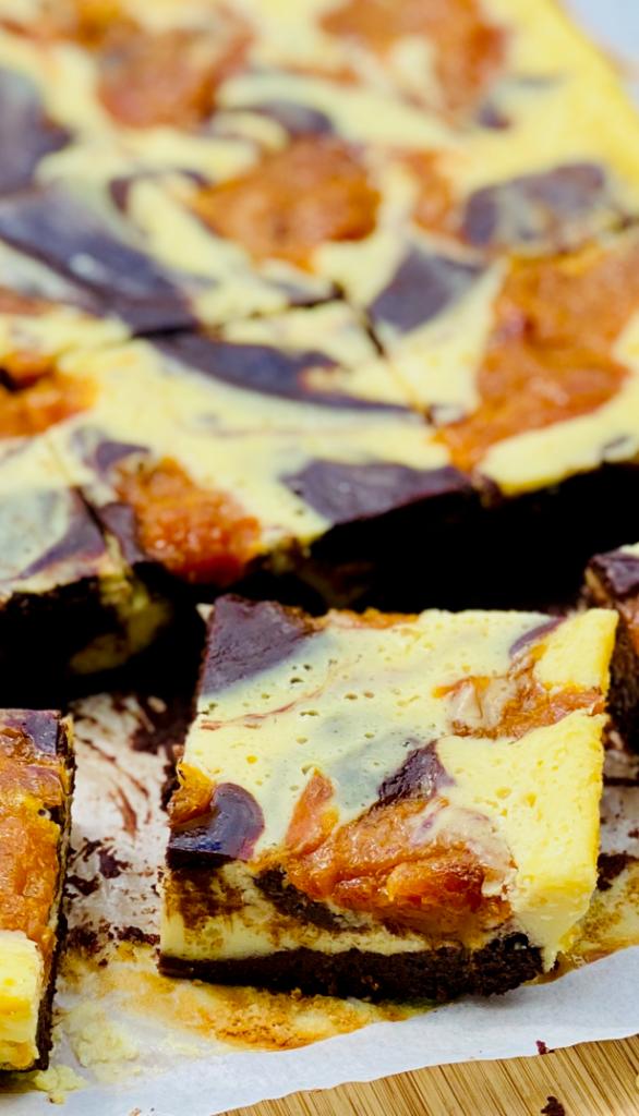 Brownie Cheesecake ein Stück aus der Nähe