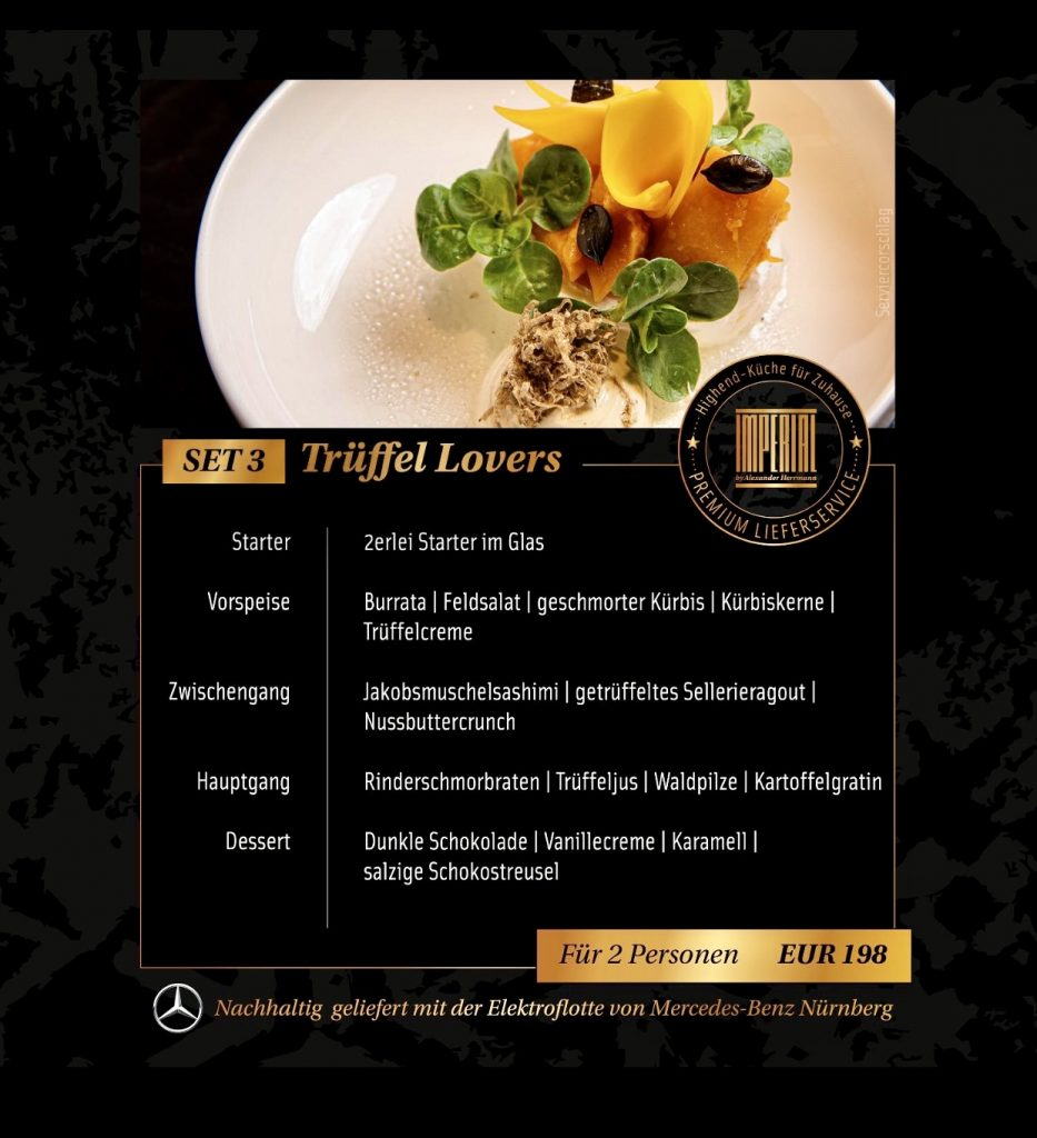 "Alexander Herrmann Premium Delivery Menüs - zuhause genießen - Menü ""Trüffel Lovers"""