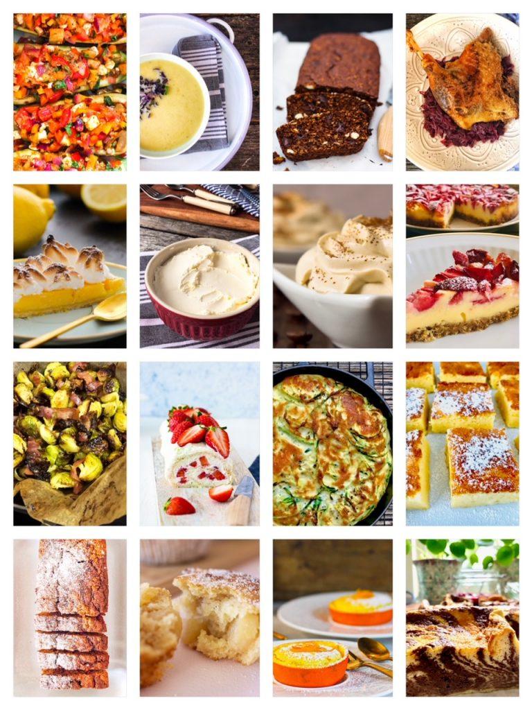 Collage der 16 Lieblingsrezepte 2020