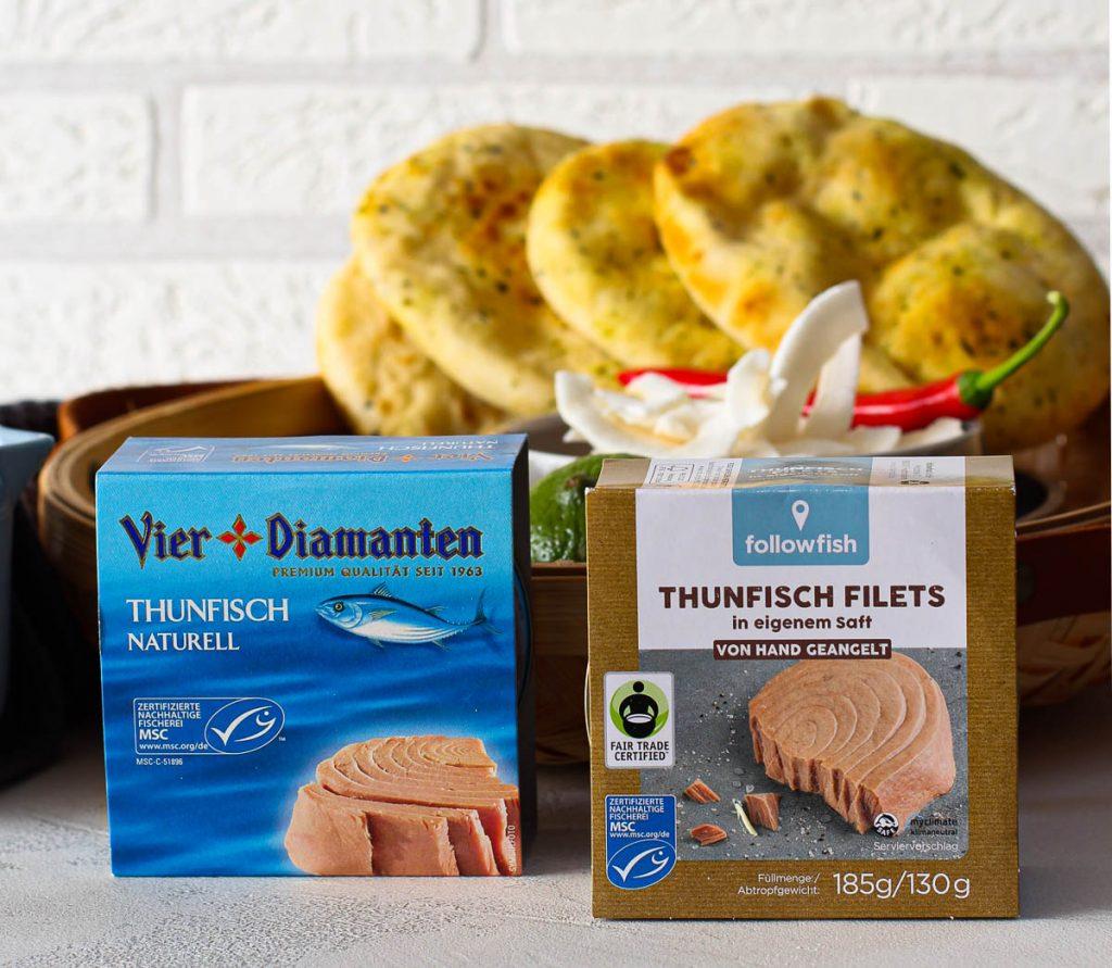 MSC zertifizierter Thunfisch verpackt