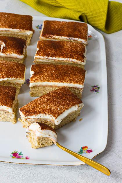 Bananenkuchen mit Skyr-Frosting - Nahaufnahme