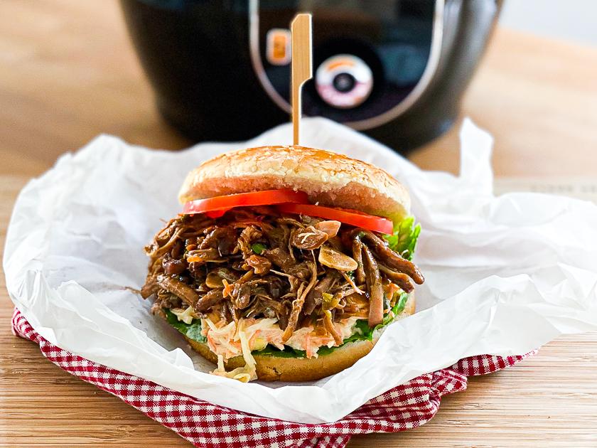 Pulled Chicken Burger schnell und einfach - vor dem Cook4Me.
