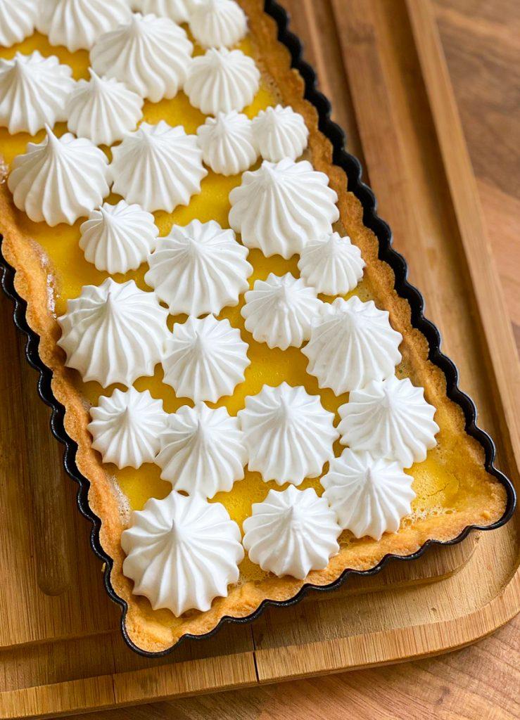 Tarte au Citron - Zitronentarte mit Mürbeteig mit Baiser